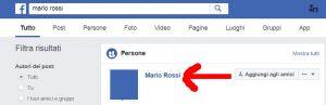 Facebook dati profilo pubblici