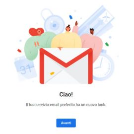 Nuova posta elettronica gmail: grafica nuova