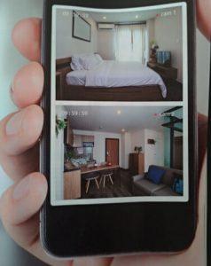 impianti videosorveglianza wifi: esempio di app sullo smartphone